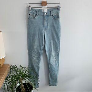 Reformation - High Waist Jeans Light Wash Amalfi